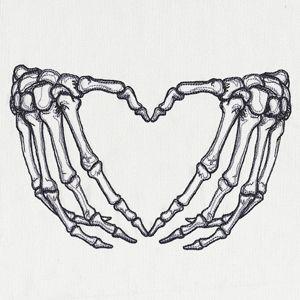 Skeleton Heart Hands Design Ut15111 From Urbanthreads Com Tattoo