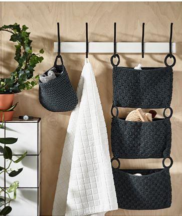 IKEA Deutschland | NORDRANA Hängeaufbewahrung, grau. Handarbeit - jedes Produkt ist ein Einzelstück. Zum Anhängen an Türoberkanten; nutzt die Türfläche zum Aufbewahren.
