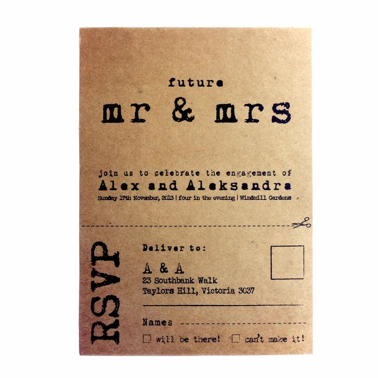 Rustic Engagement Invitation  KRAFT envelope  by AnnsPaperie, $3.00