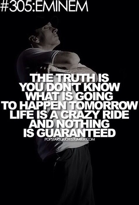 Truth is you really don't know
