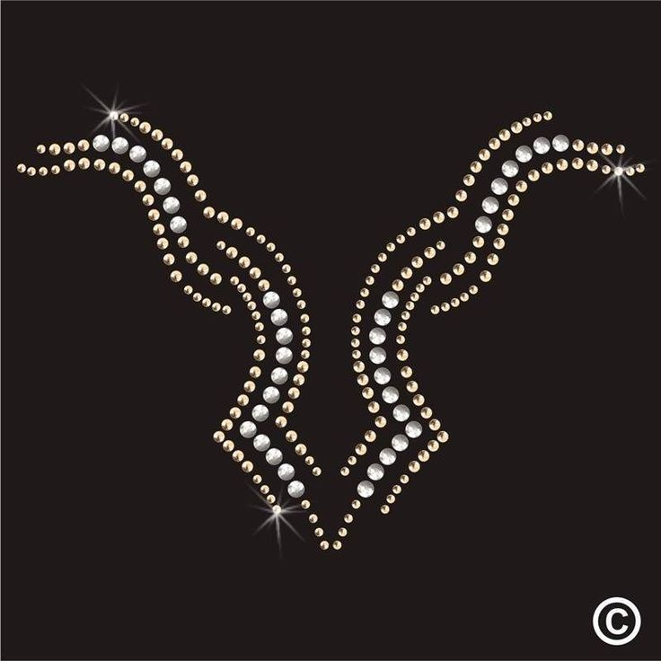 Neckline Rhinestone Diamante Transfer Iron On Hotfix Gem Crystal Motif Applique | eBay