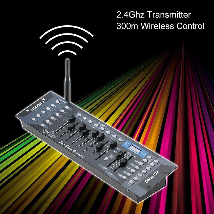 Tomshine 192 Channels Stage Light DMX512 Wireless Controller Sale Online Shopping eu plug - Tomtop.com