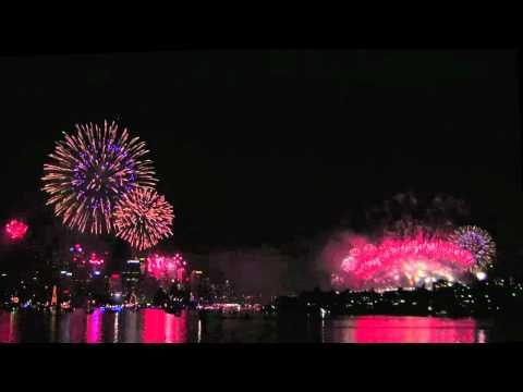Spectacular view of New Year 2012 fireworks at the Cremorne Point vintage point. View of 6 simultaneous fireworks from one end of the harbour to the other. And the Harbour Bridge fireworks and the Opera House are in view. View the whole video here - http://www.youtube.com/watch?v=t1rtk-Kmsik