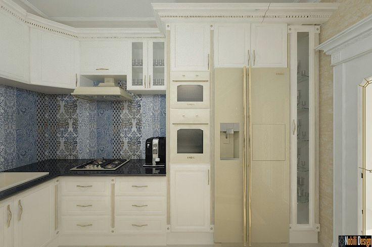 Amenajari interioare bucatarii case clasice - Concept design interior 3D