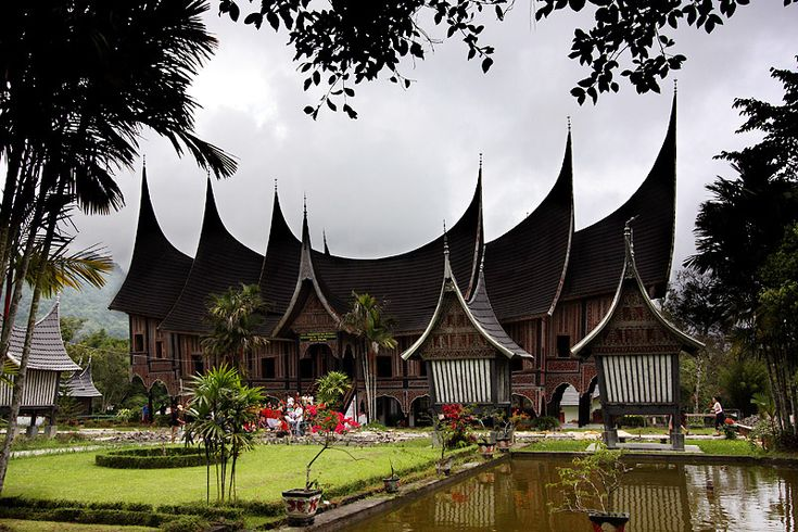 """Rumah Gadang"" - traditional minangkabau house 