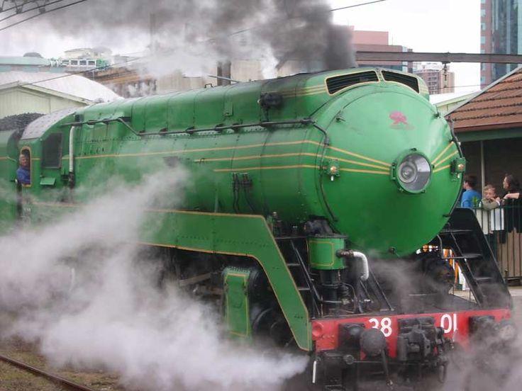 New South Wales Government Railways C38, No 3801.  4-6-2 wheel arrangement, for express passenger service