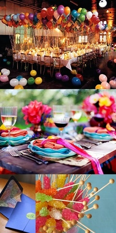 I adore these bright beautiful colors.  I love to do weddings with some punch!