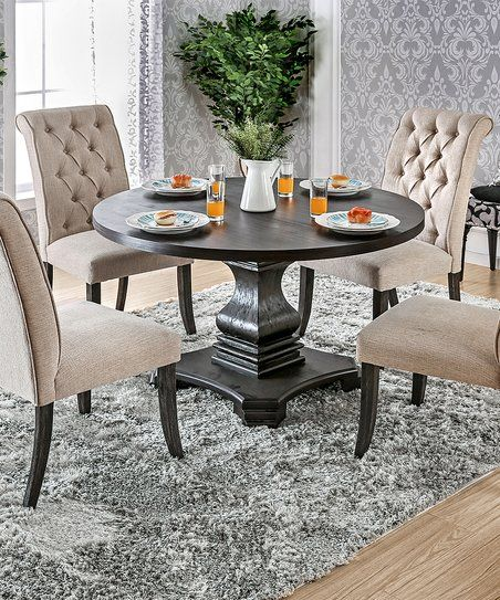 Serendipity Black Round Dining Table   zulily