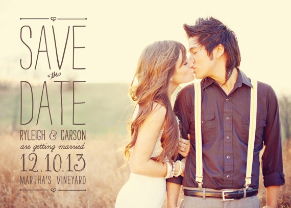 Cute Save the Date postcard