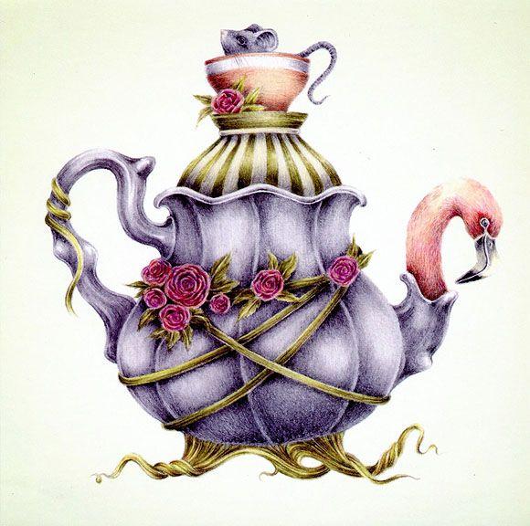Courtney Brims, Flamingo Tea - Alice in Wonderland