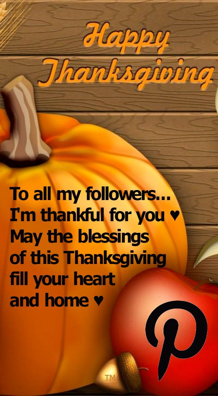 To all my followers... I'm thankful for you ♥ May the blessings of this Thanksgiving fill your heart and home ♥ No Pin Limits ♥ Diane ♥