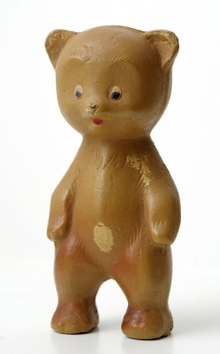 1960s Soviet Russia RUSSIAN  VINTAGE Rubber Toy BEAR ,  Made in USSR.