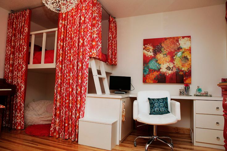 modern loft beds for teenage girls with desk