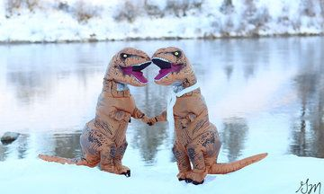 These T. Rex Engagement Photos Are The Pick-Me-Up We Need Right Now