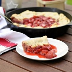 Break out your cast-iron skillet! This down-home take on strawberry pie can be made right on the grill.
