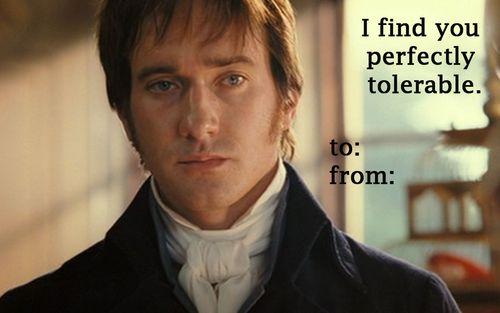 Darcy sends a valentine