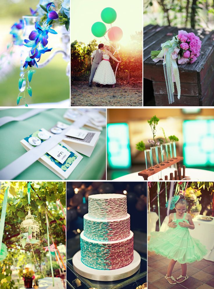 Summer Wedding Palettes Inspiration From Blog Daiquiri Ice Cool Color
