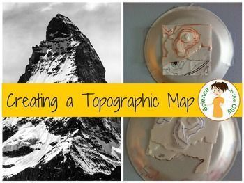 Creating a Topographic Map Model  By the end of this lab, students will understand the meaning of contour lines, and will examine some of the rules of contour lines by creating a model. This model is based off of real topographic maps (3 given, or you can