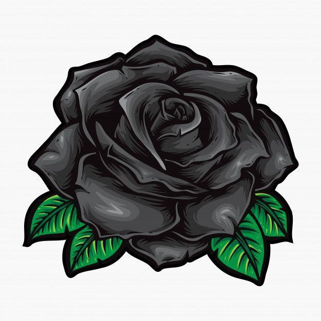 Black Roses Vector Flower Logo Black Flower Logo Roses Vector Rose Tattoos Black Rose Roses Drawing
