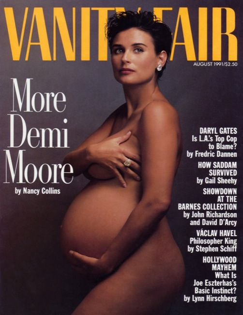 The famous Demi Moore issue. Vote on your favorite Vanity Fair covers here!