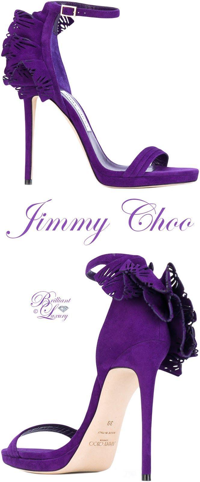 Brilliant Luxury by Emmy DE ♦ Jimmy Choo Kelly Sandals. Not really a fan of purple, but the style ❣️
