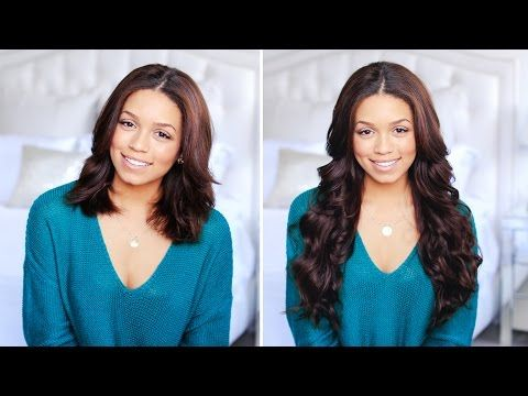 How To Clip-In and Blend Hair Extensions with Short Hair - YouTube