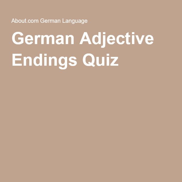 Adjective Declensions - German for English Speakers