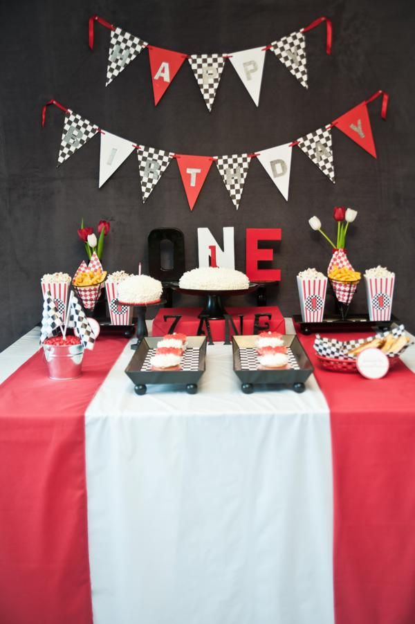 Race Birthday Vintage Car Party Theme B1 Catch