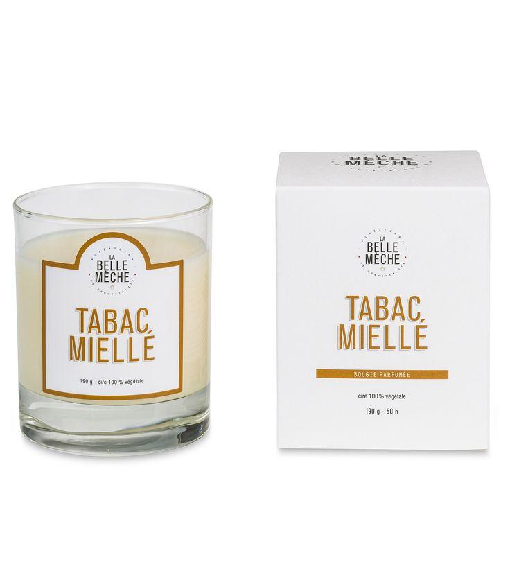 Bougie parfumée - Tabac Miellé - La Belle Mèche