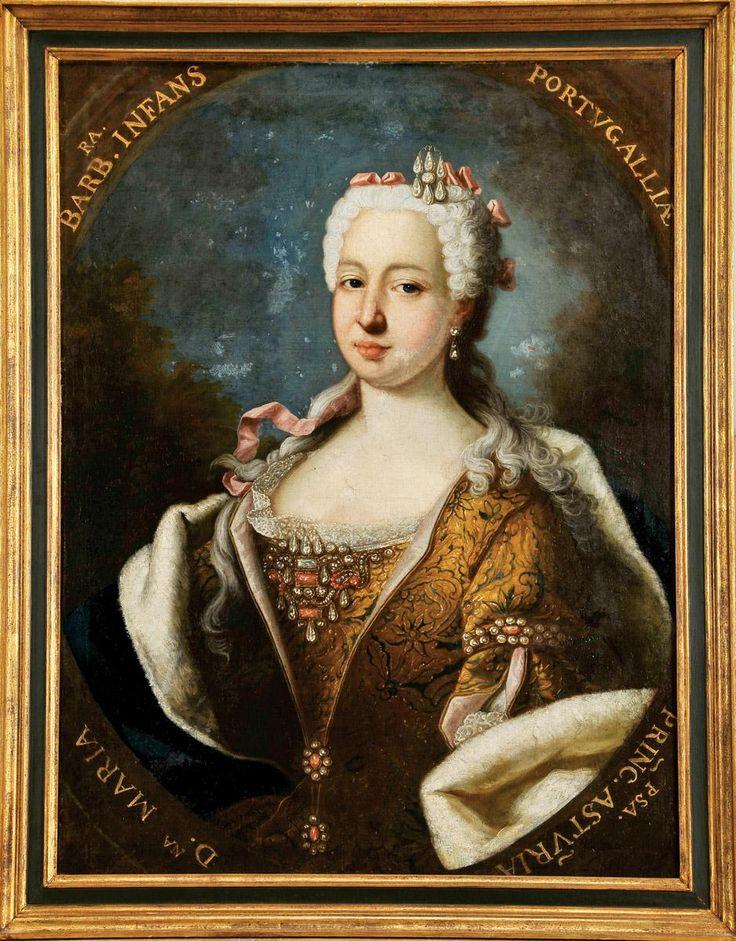 Retrato da Infanta D. Maria Bárbara de Portugal, (1710-1757) Escola portuguesa, séc. XVIII