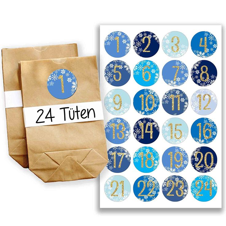 Adventskalender Miniset 26 - Aufkleber und Tüten: Amazon.de: Küche & Haushalt