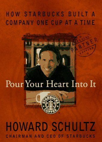 "Whattt? I'm actually reading a book??  ""A Look At Starbucks History: Pour Your Heart Into It"" by Howard Schultz"