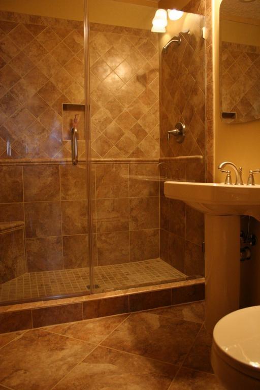 downstairs bathroom tile idea