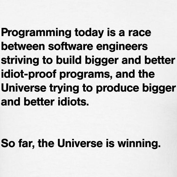 programming-today-idiots-quote-t-shirts-men-s-t-shirt.jpg (800×800)