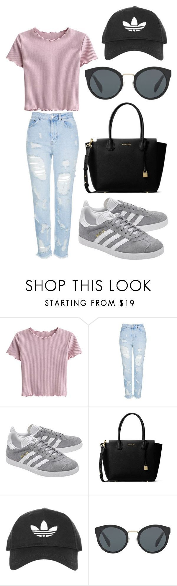 """""""mall day"""" by fashionblogger2122 on Polyvore featuring Topshop, adidas Originals, MICHAEL Michael Kors and Prada http://amzn.to/2stx5H7"""