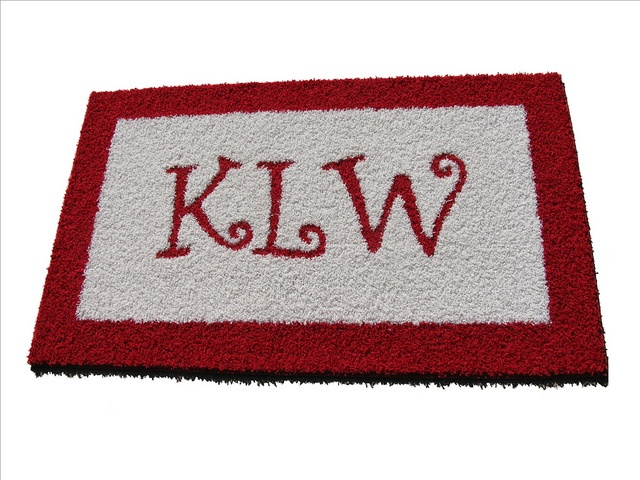 Www.creativecarpetdesign.com Monogram Rug With Initials All The Same Size  As Customer Requested