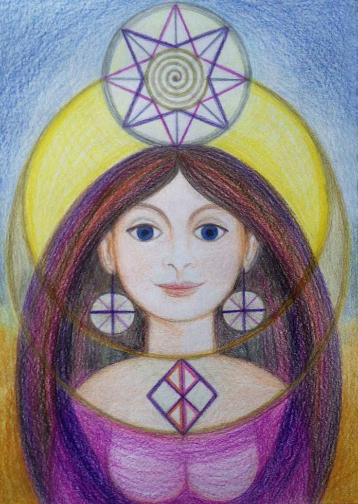 Priestess of Grounding by Ivana Axman #goddess #priestess #symbols #pagan #witch #visionaly #wicca