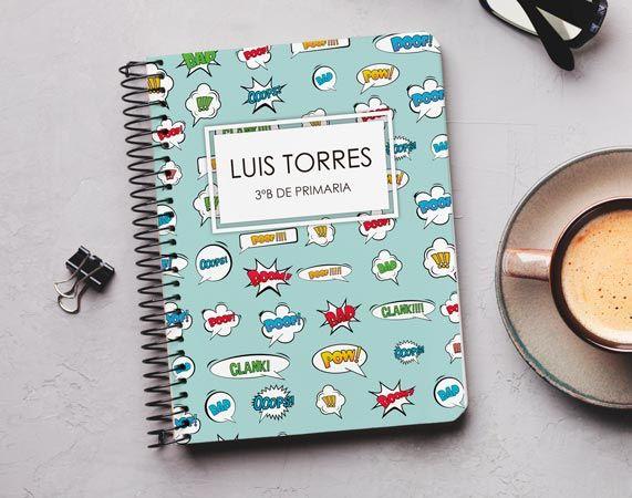 Cuaderno personalizado Cómic