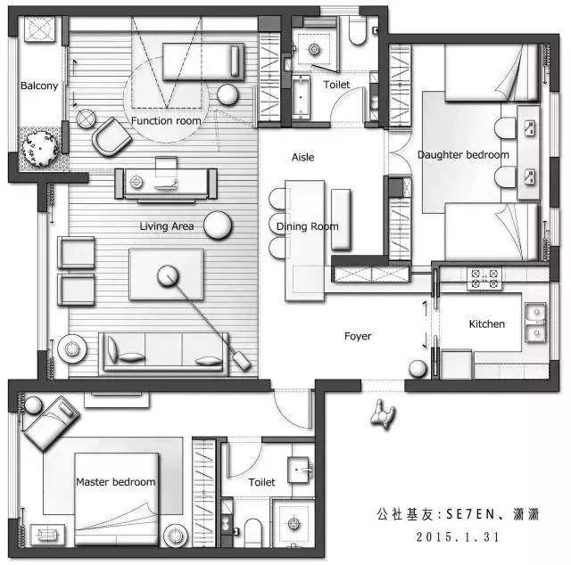 252 best Apartment Plans images on Pinterest Apartment plans