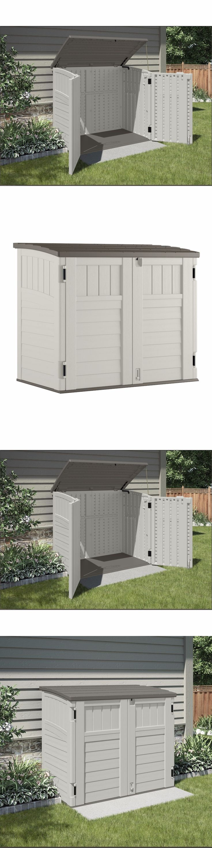 Garden and Storage Sheds 139956: Tool Shed Plastic Resin Backyard Storage Box Outdoor Cabinet Lawn Supplies Usa -> BUY IT NOW ONLY: $282.99 on eBay!