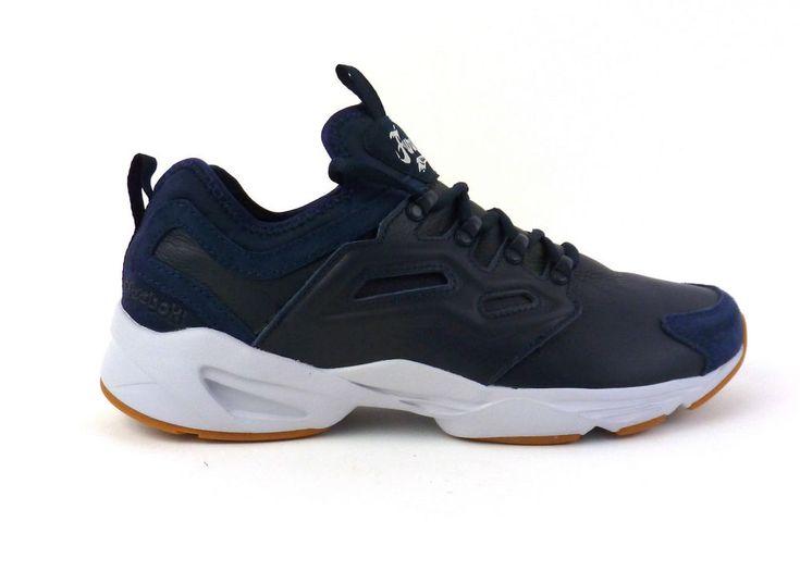 Reebok men\u0027s Fury Adapt casual shoes sneakers kicks Collegiate Navy White  Grey