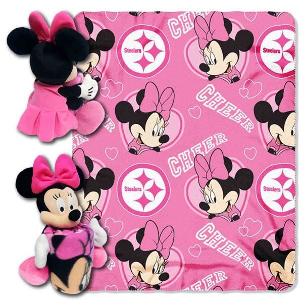 Picture of Pittsburgh Steelers Minnie Mouse Throw/Hugger Set
