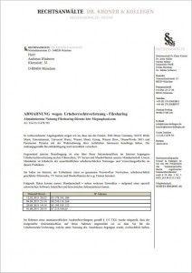 Betrug: Fake-Abmahnung wegen Megaupload-Filesharing