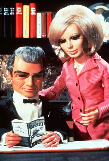 BY JOVES: Thunderbird's characters Jeff Tracy and Lady Penelope. www.stuff.co.nz