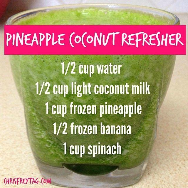 Pineapple Coconut Refresher via Chris Freytag #healthy #hydrate #detox