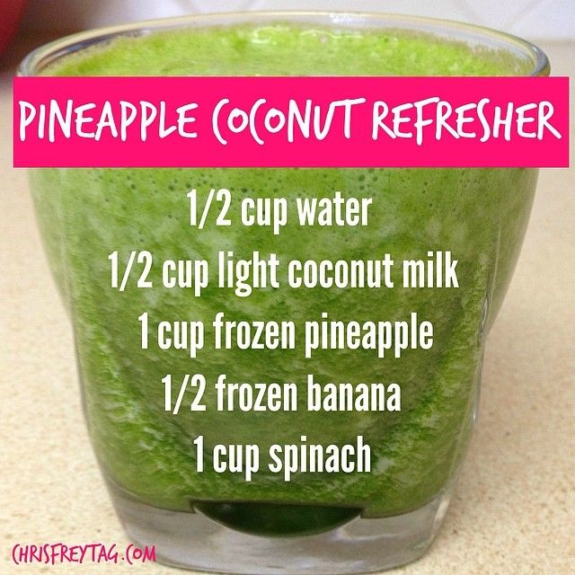 Pineapple Coconut Refresher via Chris Freytag #healthy #hydrate #detox