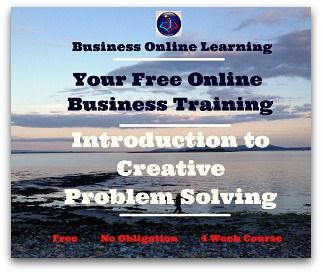 Take a few seconds to join our completely free and curious business training on Creative Problem Solving. This is free and suitable for absolutely everyone as it gives us all a new way of looking at doing work or thinking through Problems in an entirely creative way! ENJOY!