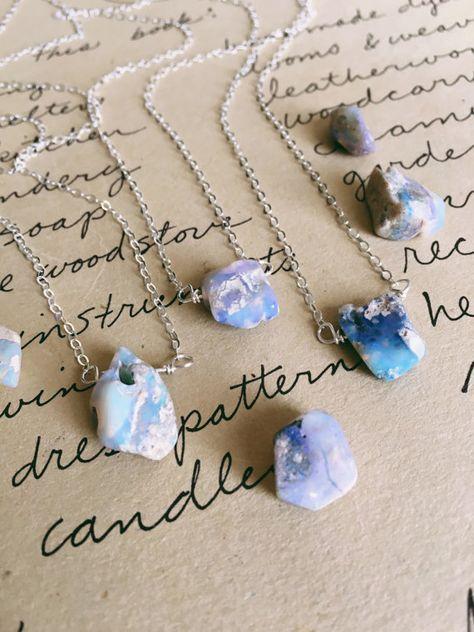 Galaxy stone necklaces