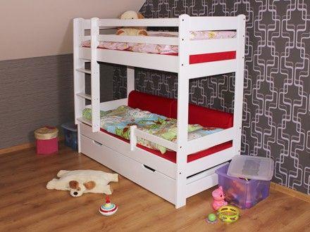 Dětská patrová postel woody bílá