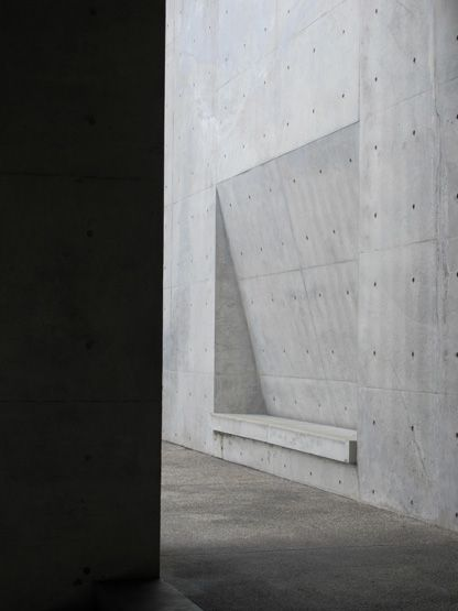 Tadao Ando Concrete Subtle Recessed Seating